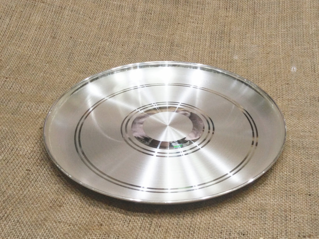 Buy 999 Pure Silver Dinner Plate With Bis Hallmark Online