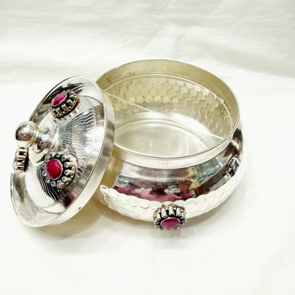 925 Pure Silver Decorative Dry Fruit Box
