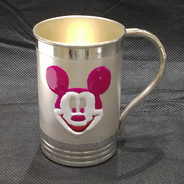 Silver Mickey Coffee Mugs - 925 BIS Hallmark