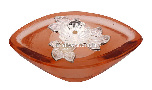 Fancy Silver Diya