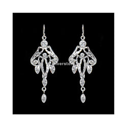 925 Antique White Silver Earrings