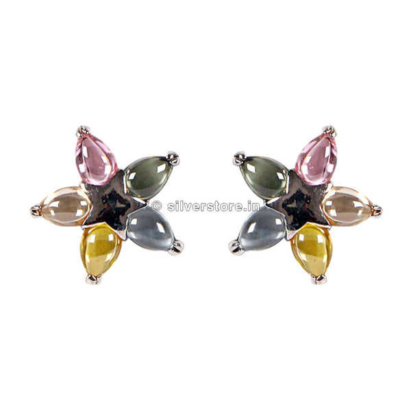Coloured Stone Studs
