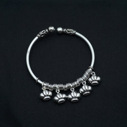 925 pure silver Bracelet Kada for women - crown pattern