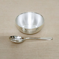 Silver Bowl & Spoon for new born baby - Bis hallmark