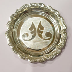 "Silver plate - 925 silver - 5 "" Inches Diameter"