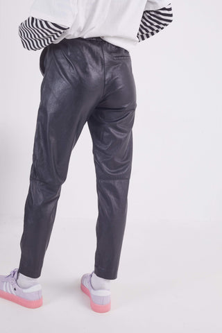 Vintage Faux Leather Trousers 26W 27L