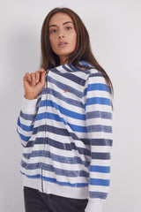Vintage Nautica Striped Zip-Up Hoodie