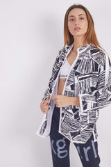 Vintage 90's Patterned No Zip Jacket