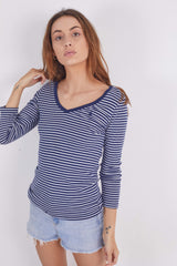 Vintage Ralph Lauren Stripe V-Neck Top