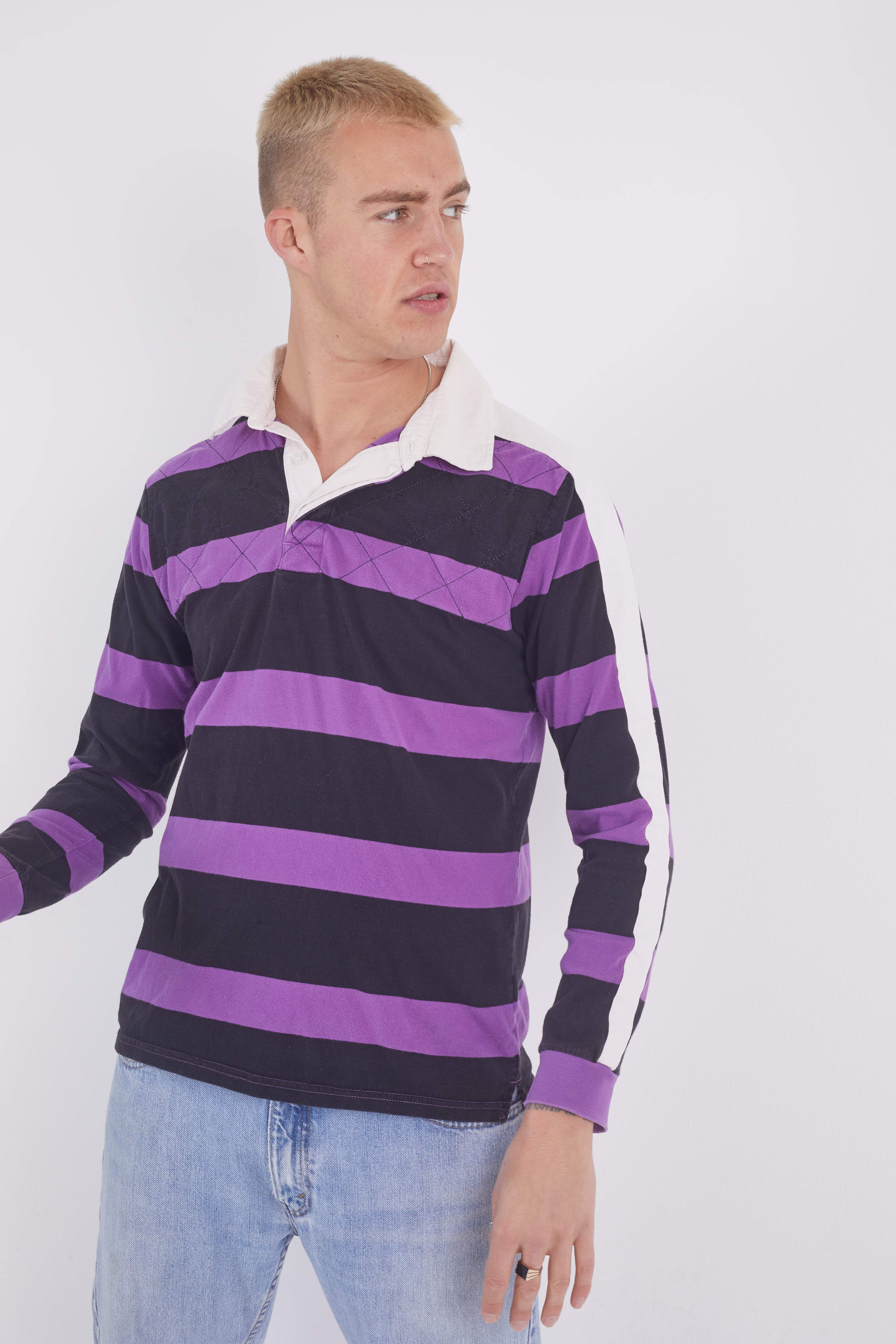 Vintage Puma Striped Rugby Top