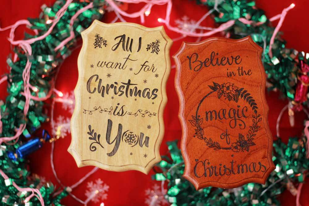 Unique Christmas Gifts - Christmas Gifts - Xmas Gifts - Engraved Woodsigns - Wooden House Signs - Woodgeek - Woodgeekstore