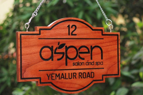 Introducing Large Wooden Hanging Signs