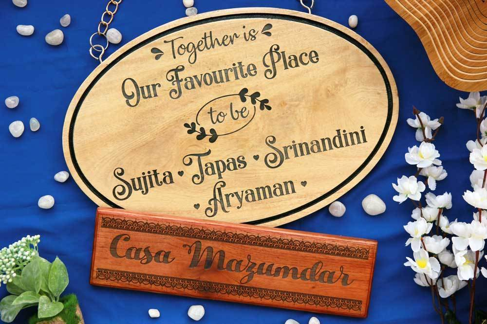 card game set wood handcrafted india full house place to call home box set Hanging Wood Signs - Personalised Outdoor Wooden Signs - Hanging Name  Boards - Custom Signs -