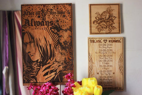 Fancy Up Your Home With Art Engraved On Wood!