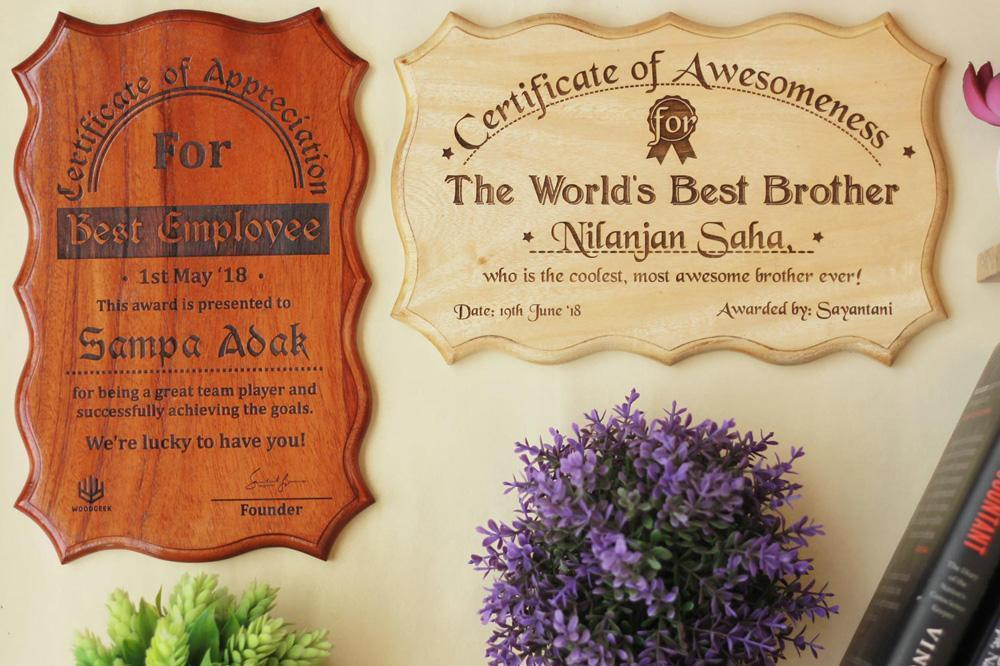 and the award goes to fun certificates made of wood woodgeekstore