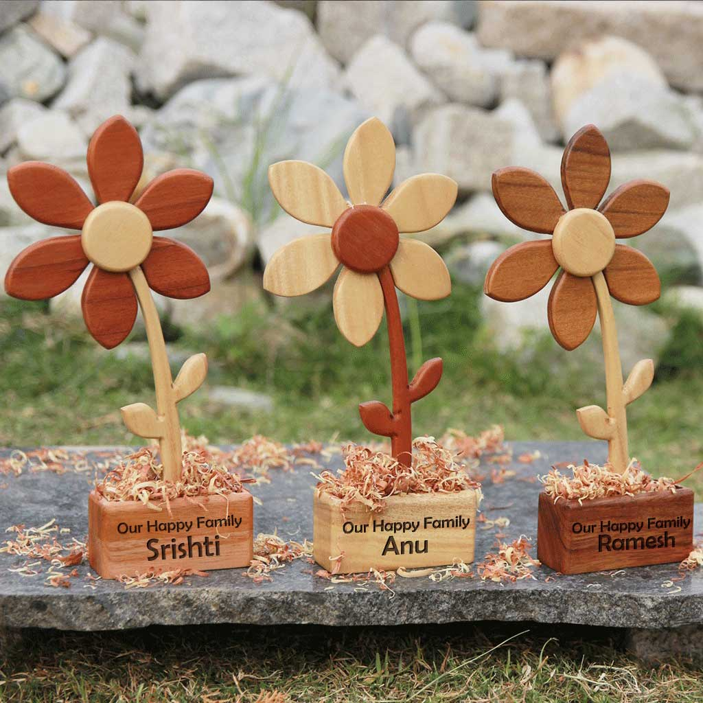 Handmade Wooden Flowers | Birthday & Anniversary Flowers | Showpiece