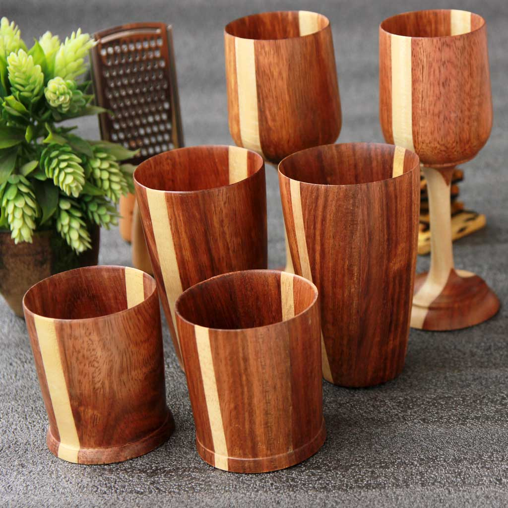 Wooden Glassware & Drinking Glasses