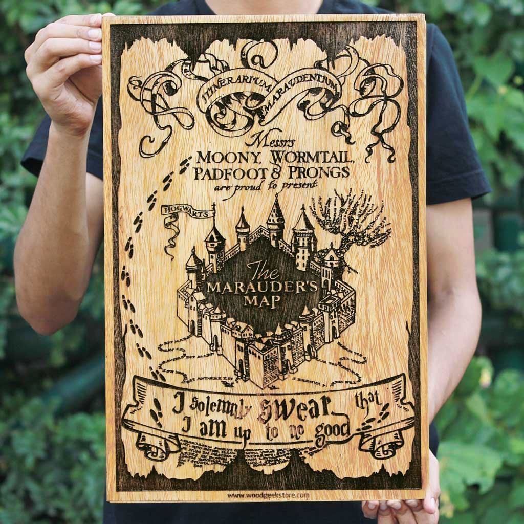 Marauder's Map - Harry Potter Posters - Harry Potter gifts - Harry Potter - Potterheads - Woodgeek Store