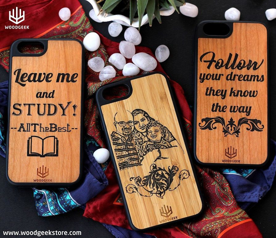 Personalized iPhone case, customized wooden iphone case