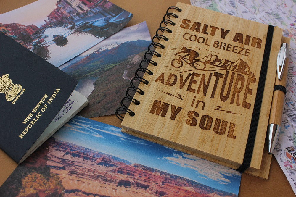 Salty air, Cool breeze & Adventure in my soul - Adventure & Travel Journal - Woodgeek Store