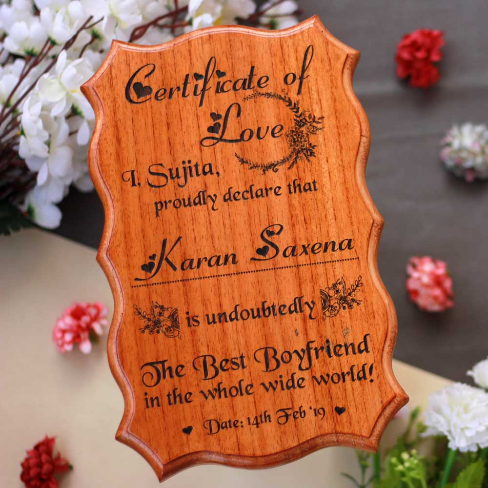 Personalized World's Best Boyfriend Certificate - Greatest Boyfriend Award Certificates - Unique Gifts for Boyfriend - Gifts for him - Custom Wooden Certificates - Personalized World's Best Boyfriend Certificate - Greatest Boyfriend Award Certificates - Unique Gifts for Boyfriend - Gifts for a Capricorn Boyfriend - Custom Wooden Certificates - Wooden Certificate of Love for The Best Boyfriend - Unique Wood Sign - Engraved Wood Signs Personalized - Woodgeek Store