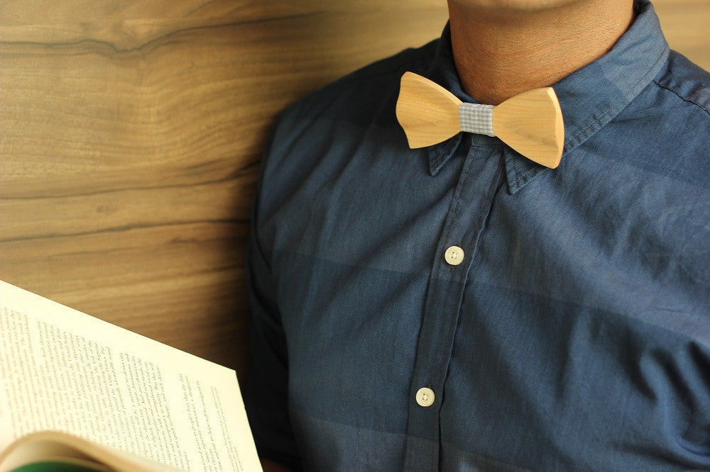 Birch Wood Bow Tie - White Bow Tie - Bow Tie for Dad - Wooden Bow Tie - Woodgeek Store