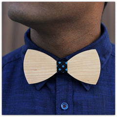Birch Wood - Wooden Bow Tie - White Bow Tie - Woodgeek Store