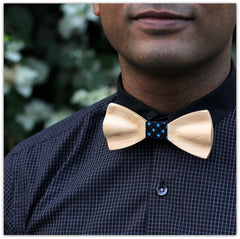 Birch Wood Bow Tie - Classic Bow Tie - Wooden Bow Tie - White Bow Tie - Woodgeek Store