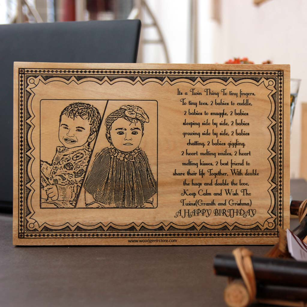This Wood Engraved Photo with A Birthday Message Is The Best Birthday Gift For Boys and Birthday Gift For Girls. Looking for gifts for kids? This Photo On Wood Is A Great Gift Ideas For Kids.
