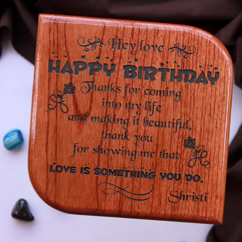 Personalised Happy Birthday Wooden Plaque. This Is One Of The Best Birthday Gifts For Men. This Wooden Plaque Is One Of The Birthday Gifts For Men. Birthday Gifts For Him. Looking For Birthday Gift Ideas For Boyfriend? This Wooden Plaque Is A Great Birthday Gift For Boyfriend. These Wooden Plaques Make The Best Birthday Gifts For Men. This Makes Unique Birthday Gifts For Him.