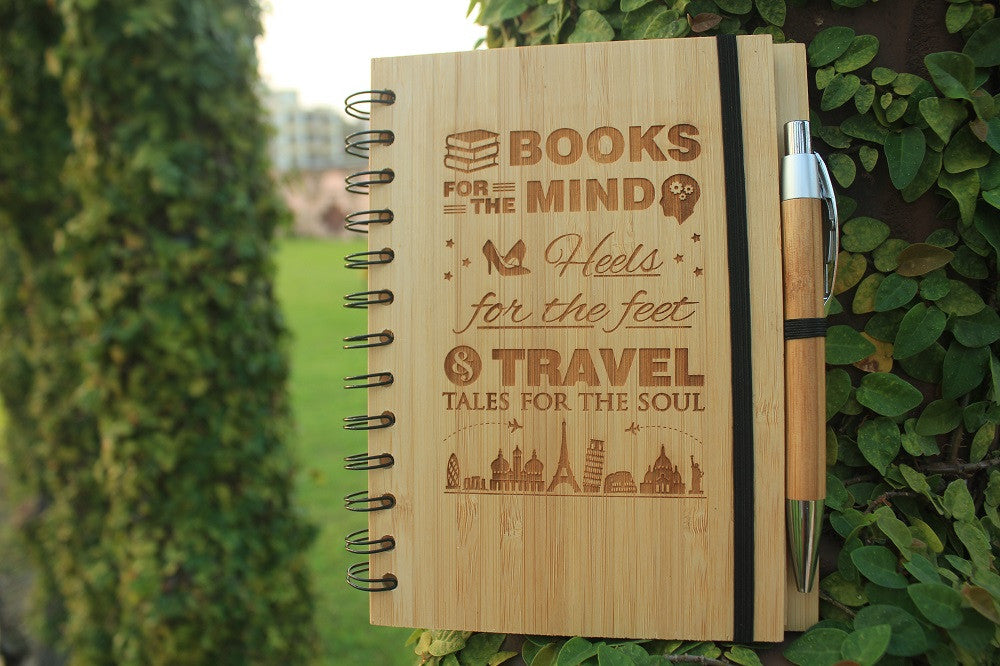 Personalized wooden notebooks for women - Woodgeek Store