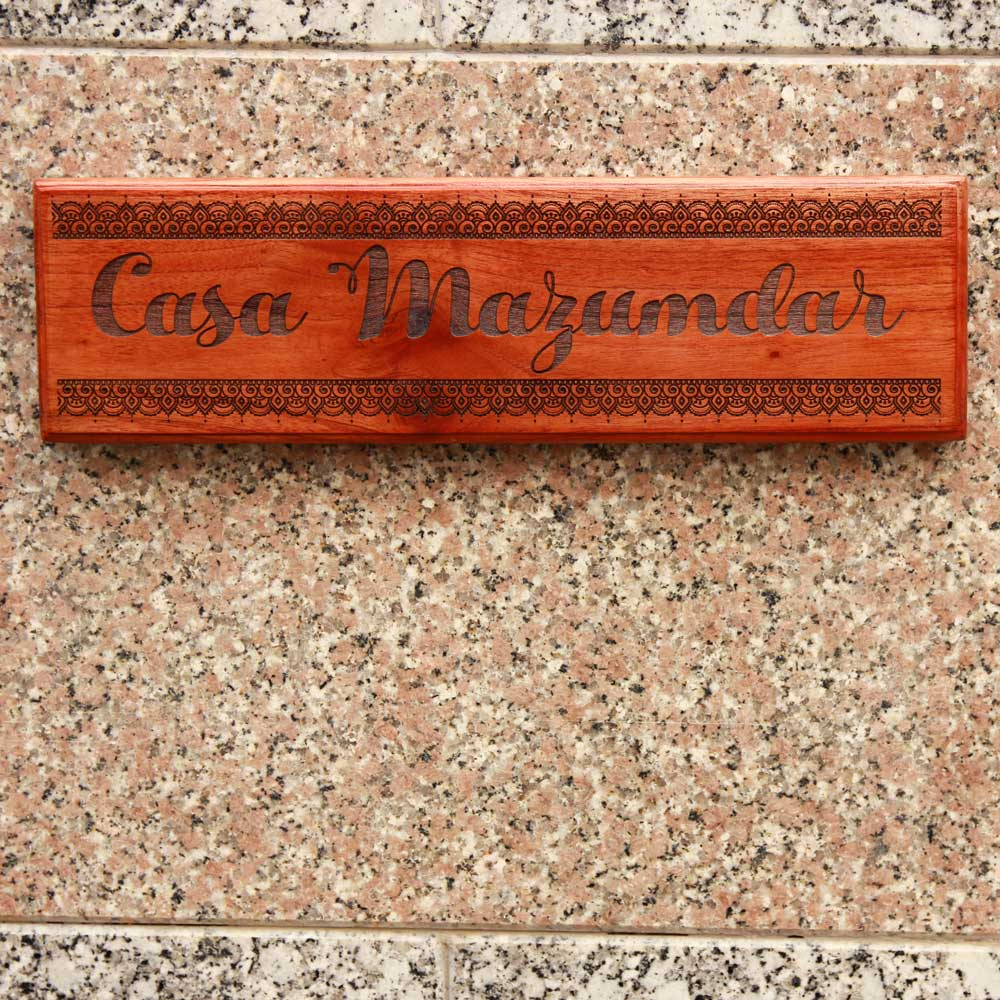Casa Custom Engraved Wooden Nameplate - Wooden Nameplates For Home - Wooden Nameplates - Engraved Name Plates - Outdoor Wooden Nameplates - Personalized Wooden Plaques - Name Plates For Home Online - Personalised Gifts - Woodgeek Store