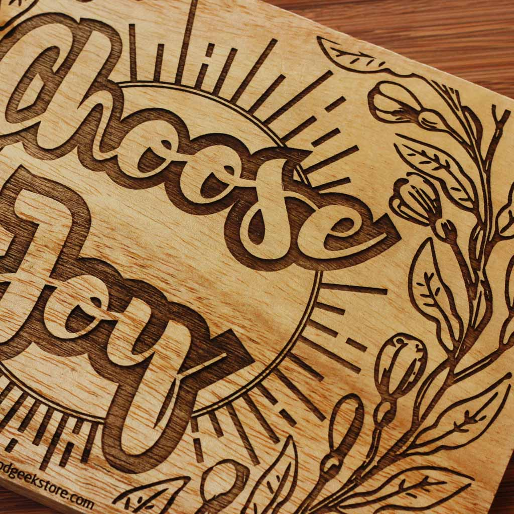 Choose Joy Carved Wooden Poster - Wood Decor - Wood Wall Art Decor
