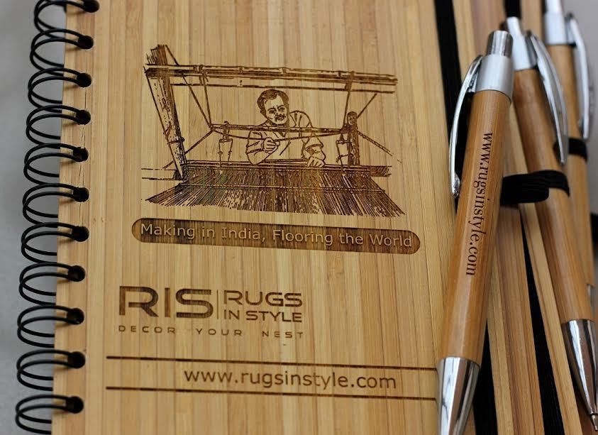 Corporate Bulk Orders - Custom wood journal for Rugs in Style - Woodgeek Store