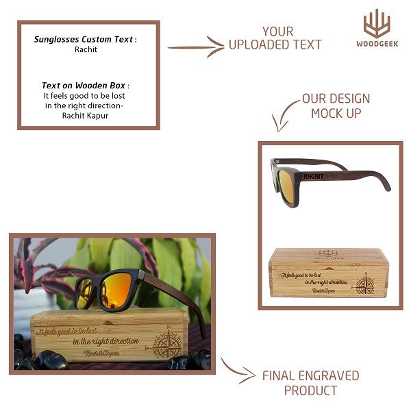 Create your own sunglasses with Woodgeek Store