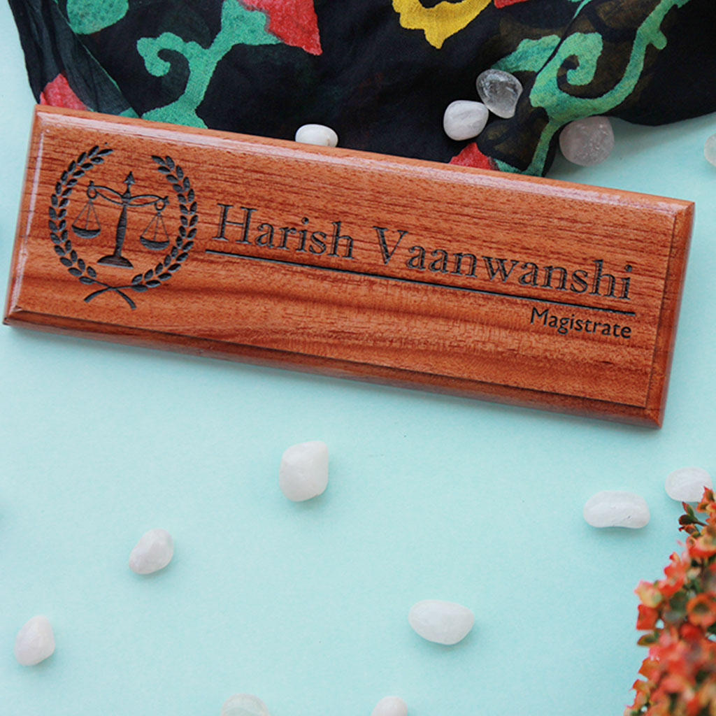 Customized wooden nameplates for office desk - Our engraved desk name plates make really good father's day gift ideas - These personalized desk name plate also make really affordable gifts for dads.
