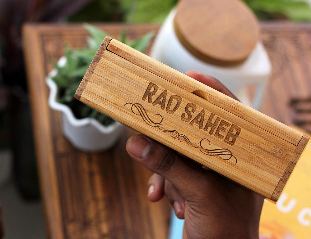 Engraved Bamboo Wood Sunglasses Box - Best Father's Day Gifts - Woodgeek Store
