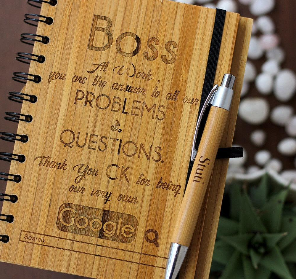 The Entrepreneur's Journal or Work Journal - Wooden Notebook - Woodgeek Store