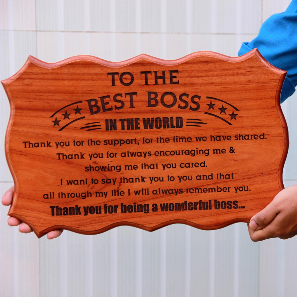 Customize Your Own Wood Sign - This Wood Carved Sign Is One Of The Best Personalized Gifts For Boss - This Wood Crafted Sign Makes A Perfect Birthday Gift For Boss