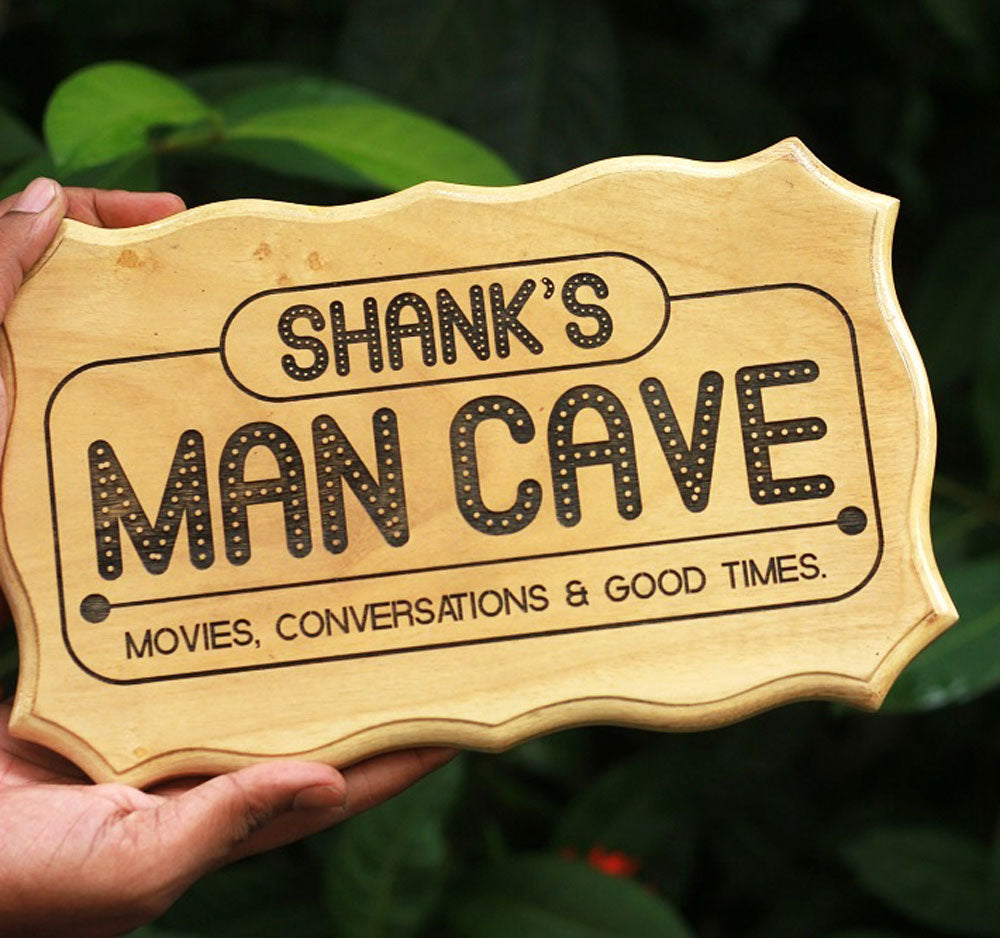 Man cave carved Wood Sign - Wood sign for boys - room decor - wood signs - wooden wood signs - home signs - wooden home decor - home decor - Woodgeek Store