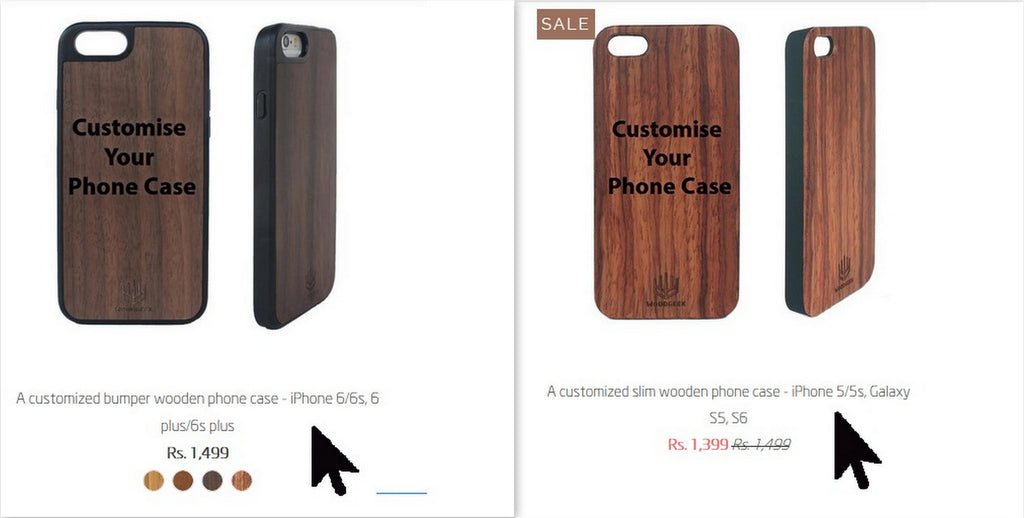 Customize your wooden phone case - Woodgeek store