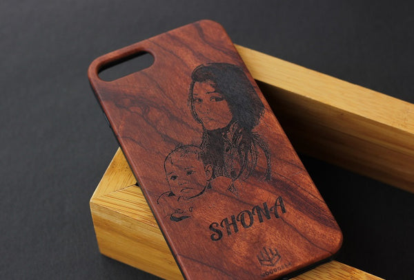 Customized wooden iPhone case - Woodgeek Store