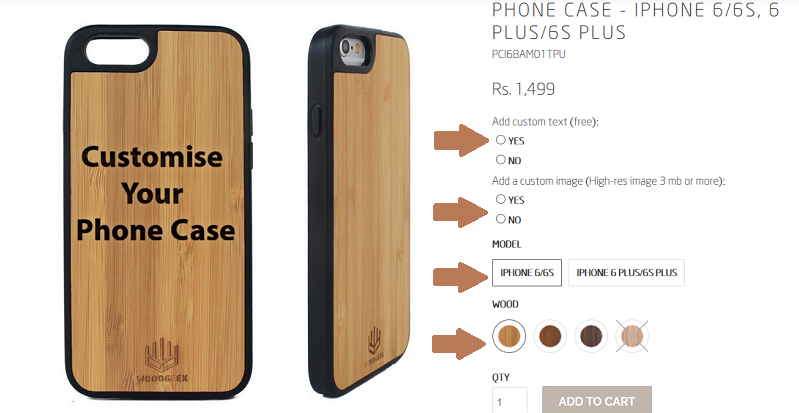 Customize your iPhone wood case - Woodgeek Store