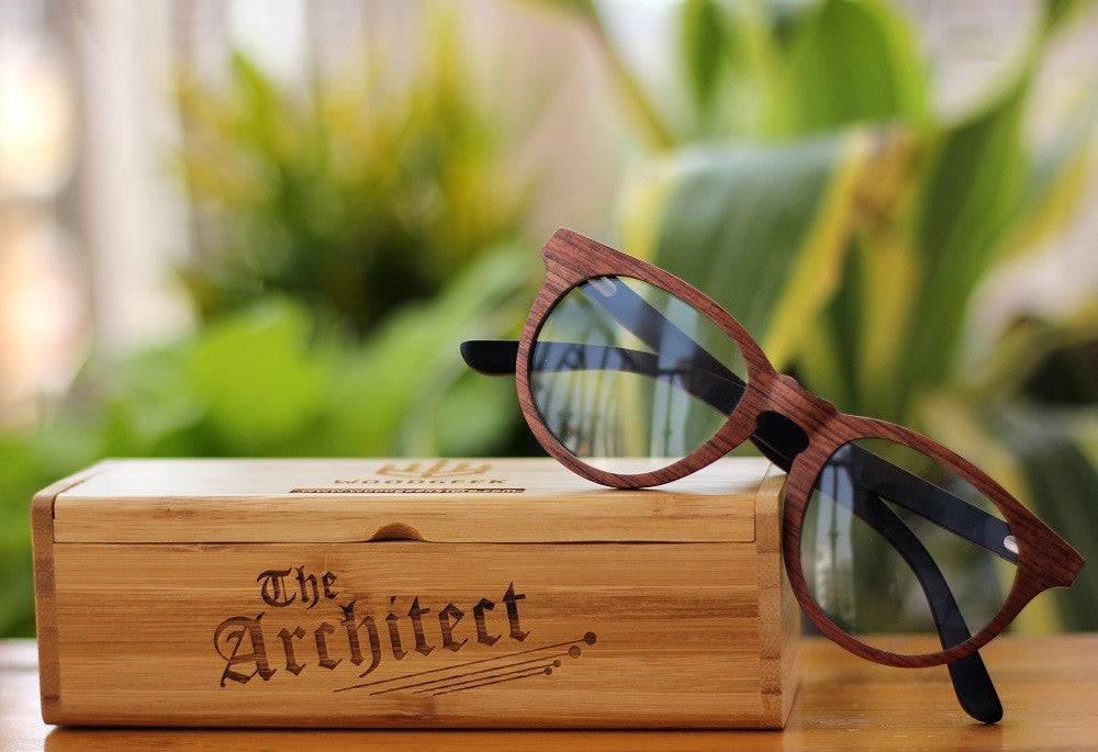 Customized Wooden Spectacle Frames - Geek Glasses - Father's Day Gifts - Woodgeek Store