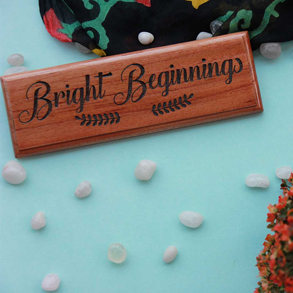 Customize Your Own Wooden Nameplates With Quotes Of Your Choice - These engraved nameplates make perfect gifts for moms - Buy unique mothers day gifts online from the Woodgeek Store