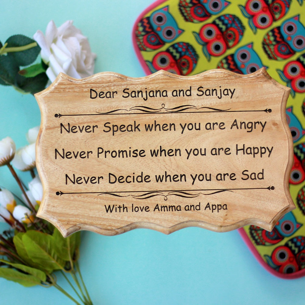 Customized Wood Sign - Personalized Wooden Plaques - Unique Christmas Gifts - Wooden Signs With Saying - Engraved Wood Sign - Woodgeek - Woodgeekstore