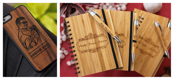 Buy cutom engraved wooden iPhone cases and bamboo wood notebooks - Woodgeek Store