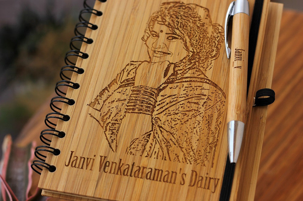 A Personal Diary - Daily Journal - Wooden Notebook - Woodgeek Store