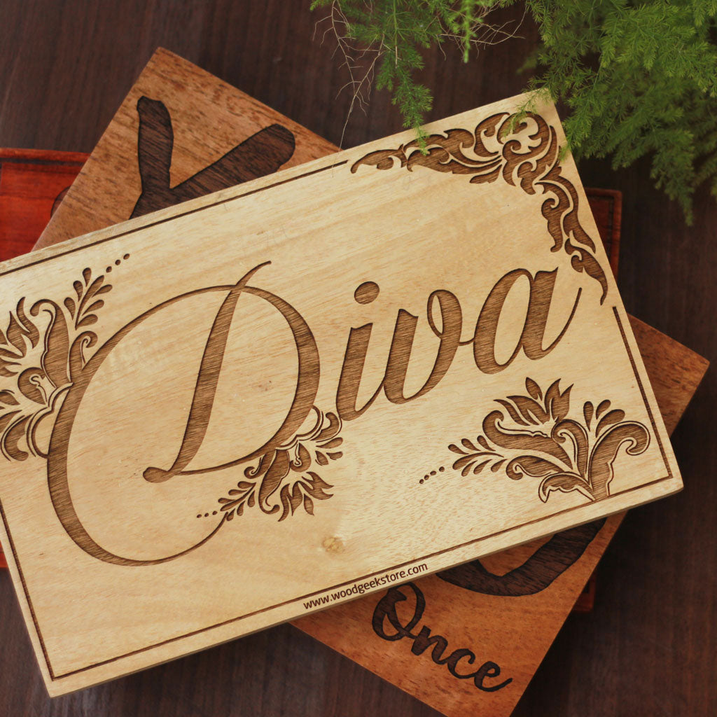 Diva Wood Sign by Woodgeek Store