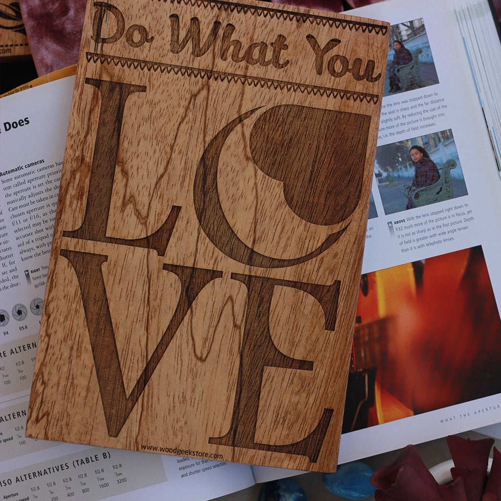 Do What You Love Inspirational Wood Signs for Home and Office by Woodgeek Store